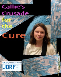 Callie's Crusade for the Cure, the JDRF Walk to Cure Diabetes, Oct. 3rd